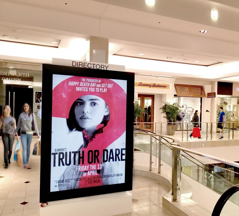 mídia indoor Shopping